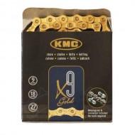 Lanț KMC X9 - 9 viteze auriu