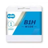 Lanț KMC Z1eHX-wide - 1 viteză argintiu