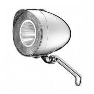 Far UNION Clasic 1 LED 20 LUX pentru dinam argintiu