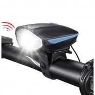 Far cu sonerie incorporată RPC 250 lumeni USB negru/albastru