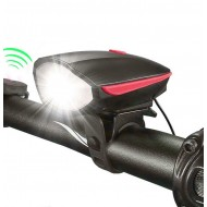 Far cu sonerie incorporată RPC 250 lumeni USB negru/roşu
