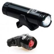Far/avertizor BIKEFUN Shot 1+1 LED USB