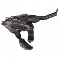 Manetă integrată SHIMANO Altus ST-EF510-2A - dreapta 7 viteze - negru