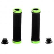 Manșoane ghidon CROSSER HL-G201 - 130 mm negru/verde