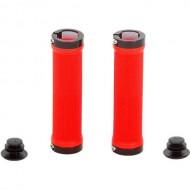 Manșoane ghidon CROSSER HL-G201 - 130 mm roşu/negru