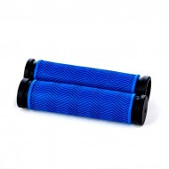 Manșoane ghidon BIKEFORCE 130 mm negru/albastru