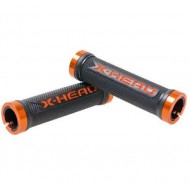 Manșoane ghidon BIKEFUN X-head lock-on 130 mm negru/orange