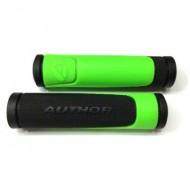 Manșoane ghidon AUTHOR AGR R600 D3 - 125 mm negru/verde