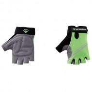 Mănuși ciclism MERIDA Kid- fără degete gri/negru/verde mărimea M