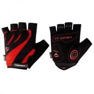 Mănuși ciclism MERIDA Comfort Gel - fără degete negru/roşu