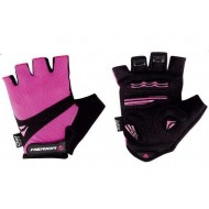 Mănuși ciclism de damă MERIDA Comfort Gel - fără degete negru/roz