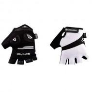Mănuși ciclism de damă MERIDA Comfort Gel - fără degete alb/negru