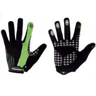 Mănuși ciclism MERIDA Light Sport - cu degete negru/verde