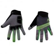 Mănuși ciclism MERIDA Light Gel - cu degete negru/verde/gri