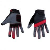 Mănuși ciclism MERIDA Light Gel - cu degete negru/roşu/gri