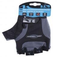 Mănuși ciclism M-WAVE Glovers fără degete negru/gri mărimea M
