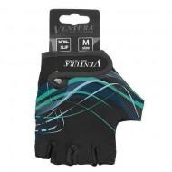 Mănuși ciclism VENTURA mărimea M negru/verde
