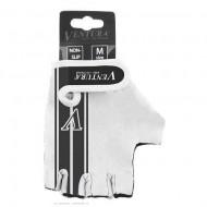 Mănuși ciclism VENTURA - negru/alb mărimea M