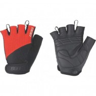 Mănuși ciclism BBB Cooldown - negru/roșu mărimea M