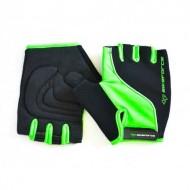 Mănuși ciclism BIKEFORCE- negru/verde XL