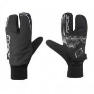 Mănuși ciclism FORCE Hot Rak - negre