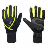 Mănuși ciclism FORCE Ultra Tech - negru/fluo