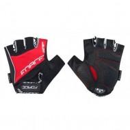 Mănuși ciclism FORCE Grip Gel - negru/roșu