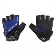 Mănuși ciclism FORCE Grip Gel - negru/albastru