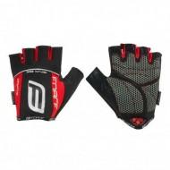 Mănuși ciclism FORCE Darts Gel - negru/roșu