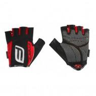 Mănuși ciclism FORCE Darts 17 Gel - negru/roşu mărimea XL