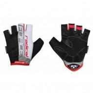 Mănuși ciclism FORCE Radical - negru/alb/roşu mărimea L