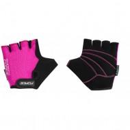 Mănuși ciclism FORCE Shorty - roz mărimea M