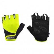 Mănuși ciclism FORCE Gel - fluorescent mărimea L