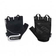 Mănuși ciclism FORCE Gel 17 - negre mărimea L