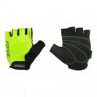 Mănuși ciclism FORCE Terry - fluorescent mărimea L