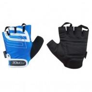 Mănuși ciclism FORCE Sport - albastre mărimea L