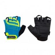 Mănuși ciclism FORCE Sport - albastru/fluorescent mărimea L