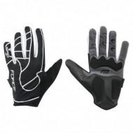 Mănuși ciclism FORCE MTB Spid - negru/alb mărimea S