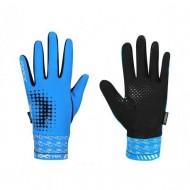 Mănuși ciclism FORCE Extra 17 - albastre