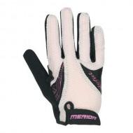 Mănuși ciclism de damă MERIDA Juliet Sport 2 - cu degete negru/violet/alb