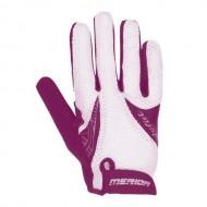 Mănuși ciclism de damă MERIDA Juliet Sport 2 - cu degete violet/alb mărimea L