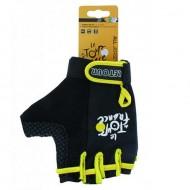 Mănuși ciclism Tour de France - negru/galben L