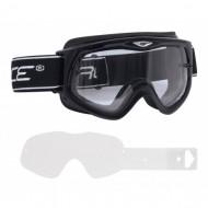 Ochelari ciclism FORCE DH negru / lentila transparentă