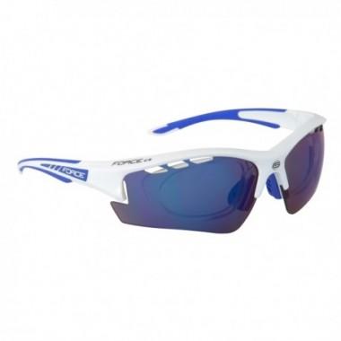 Ochelari ciclism FORCE Ride Pro albastru/alb