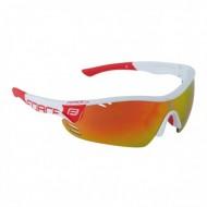 Ochelari ciclism FORCE Race Pro albi / lentile roşii