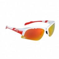 Ochelari ciclism FORCE Ultra 17 alb/roşu / lentile roşii