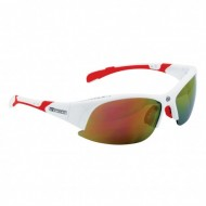 Ochelari ciclism FORCE Ultra alb / lentile roşii