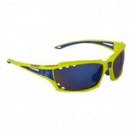 Ochelari ciclism FORCE Vision galben/albastru / lentile albastre