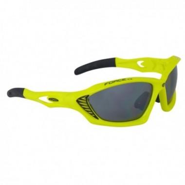 Ochelari ciclism FORCE Max galben/negru