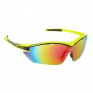 Ochelari ciclism FORCE Ron galben/negru multilaser